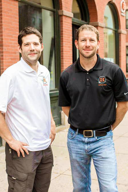 Photo of Haycon Founders and Passive House building enthusiasts, David Bemiss and Patrick Haydon