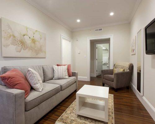 Boston multifamily construction - Charles Street apartments interior