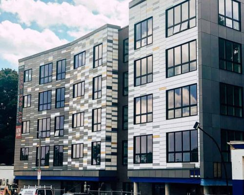 Boston high performance construction - Dorchester meetinghouse apartments exterior